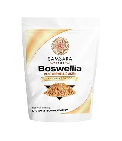 Samsara Herbs Boswellia Extract 8oz 227g 90 Boswellic Acid Inflammation Digestion Respiratory Support