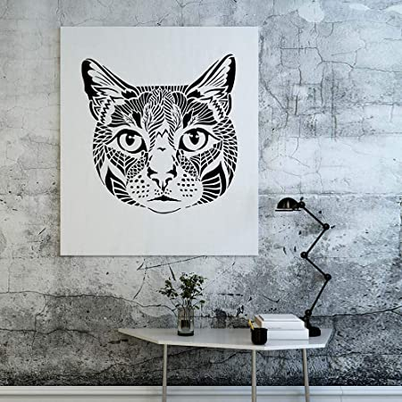Vaska The Cat Wall Art Stencil - Plantilla de decoración para el hogar,  Large, 1: Amazon.com.mx: Hogar y Cocina