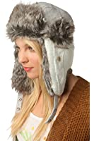 Urban Outfitters Wool Faux Fur Comfortable Warm Cute Winter Trapper Aviator Hat