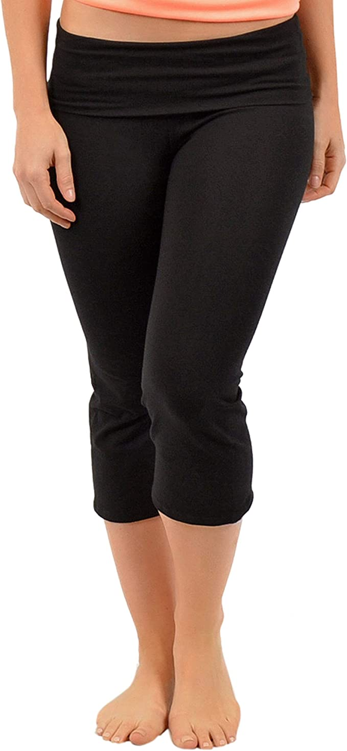 Stretch Is Comfort Womens Capri Yoga Pants