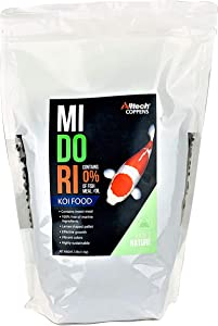 Alltech Midori Koi Food - 2.5lb Fish Food - Complete Floating and Insect-Rich Feed with High Protein Level to Promote Growth - Free of Fish Meal / Oil and Marine Ingredients