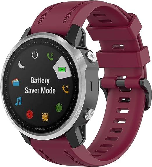 Bossblue Compatible with Garmin Fenix 6S Bands,Solf Silicone Replacement Band for Fenix 6S//Fenix 6S pro//Fenix 5S//Fenix 5S Plus Smartwatch Pink