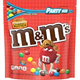 M&M'S Peanut Butter Chocolate Candy Party Size, 34 Ounce Bag