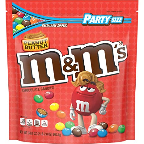 M/&M/'S PEANUT SWEET CANDY EUROPEAN ADVERTISEMENT CARD FOR MIX PACK OF M/&M 2019