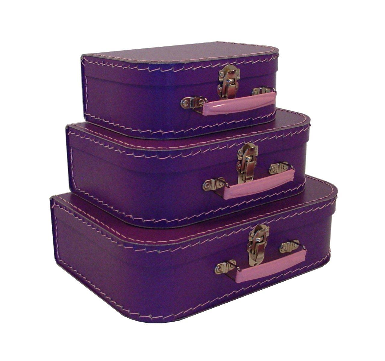 Amazon.com: Cargo Vintage Travelers Mini Suitcases, Set Of 3,Red: Home U0026  Kitchen