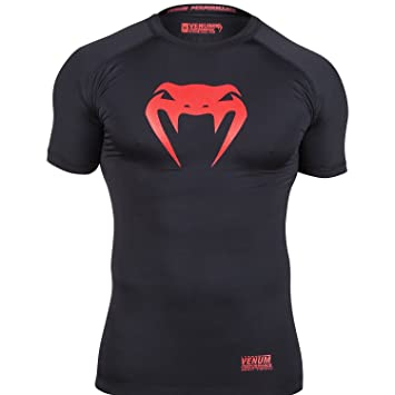 Venum EU-VENUM-1088-XXL - Camiseta de Fitness para Hombre, Color Negro/Rojo, Talla 2XL: Amazon.es: Deportes y aire libre