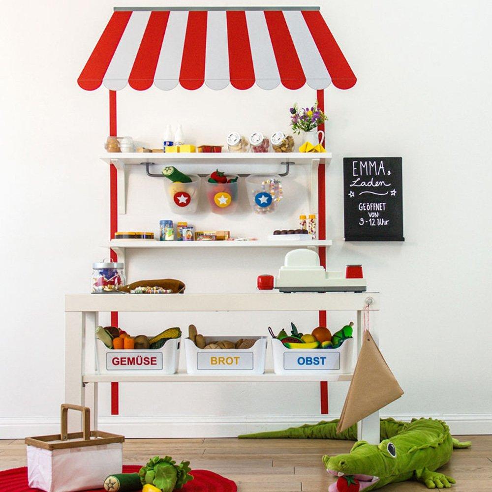 Kaufladen basteln mit Ikea Kaufladen Wandtattoo - Limmaland Kaufladen Wandtattoo