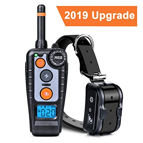 Dog Training Collar Bonve Pet Dog Training Collar with Remote, 3 Training  Modes, Beep, Vibration and Shock Rechargeable & IP67 Waterproof, 1000ft