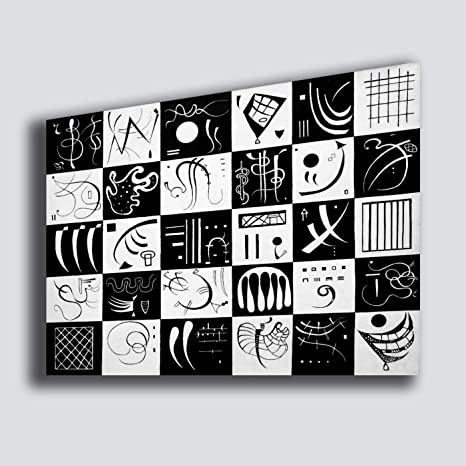 Quadro moderno KANDINSKY Trente bianco nero black and white ...