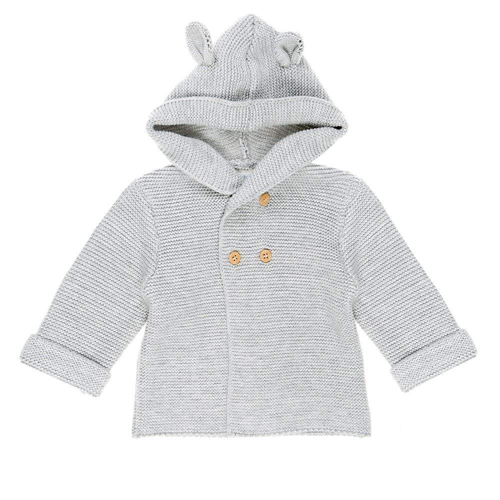 Feetje Baby-Unisex Strickweste mit Kapuze Hugs and Kisses 513.00282