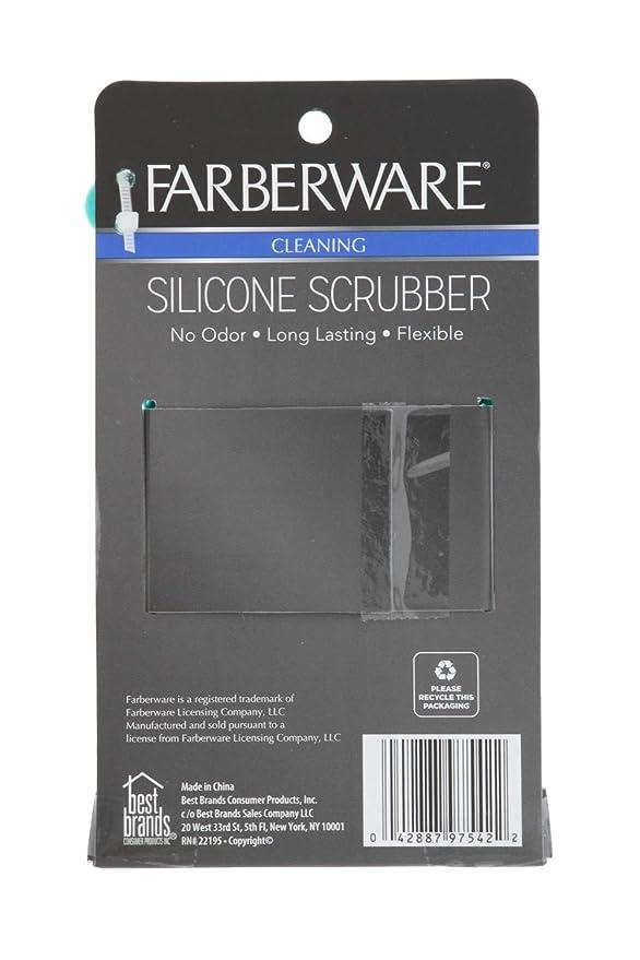 Farberware 2pk silicona esponjas para cocina, hogar multiusos ...