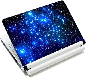 AUPET Personalized Laptop Skin Sticker Decal,12 13 13.3 14 15 15.4 15.6 inch Laptop Skin Sticker Cover Art Decal Protector Notebook PC(Many Blue Stars)