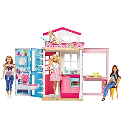 Barbie 2-Story House with Furniture & Accessories on