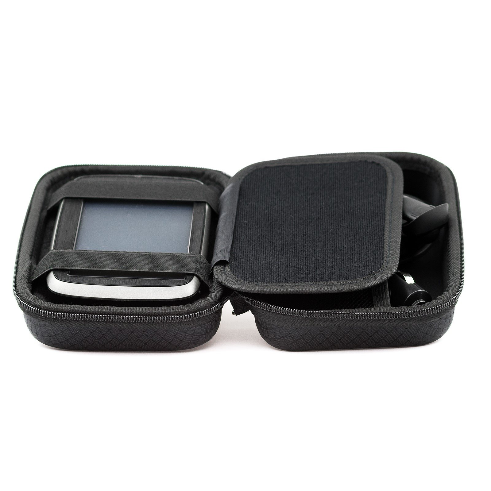 Digicharge Hard Carrying Case Tomtom Via 1425 1525 M SE 1425M 1525M 1525TM Go 52 Go 520 5200 Rider 500 550 Trucker 550 5-inch GPS Accessory Storage Lanyard - Black by Digicharge (Image #4)