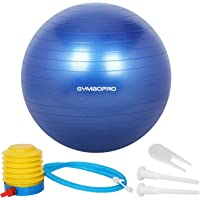 GYMBOPRO Gymnastikball 25cm/55cm/65cm/75cm, Yoga Ball Fitnessball mit Pumpa für Yoga, Pilates, Fitness, Balance Ball für Core Strength