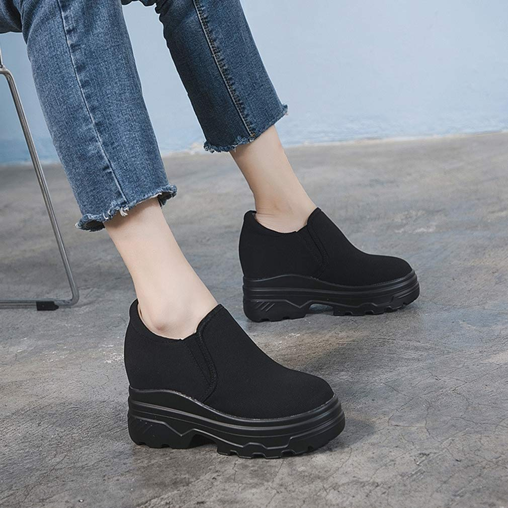 YAN Damenschuhe Damenschuhe Damenschuhe Loafers & Slip-Ons Low-Top Turnschuhe Lazy Cloth Schuhe Outdoor Walking schuhe Running schuhe Weiß schwarz schwarz 34 db12d7