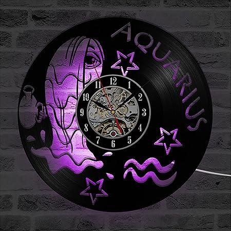 GHQ Aquarius Creative CD LED Record Clock Hollow Antique