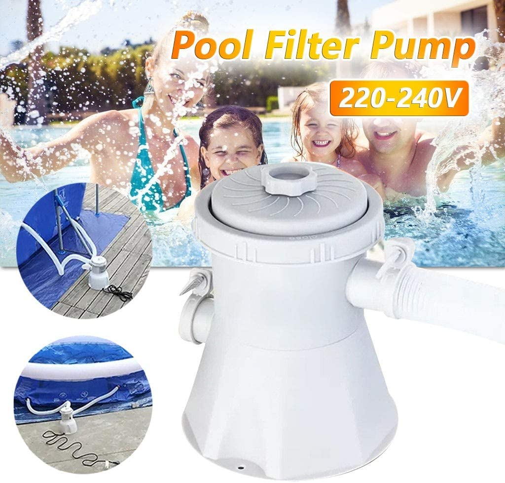 With 1 filter 220V-240V Electric Swimming Pool Filter Pump for 8ft//10ft//12ft Fast Set Steel Frame Pools 300 Gal ,Swimming Pool,Hot Tub,Flooded Cellar or Above Ground Pools Cleaning Tool , Blue A