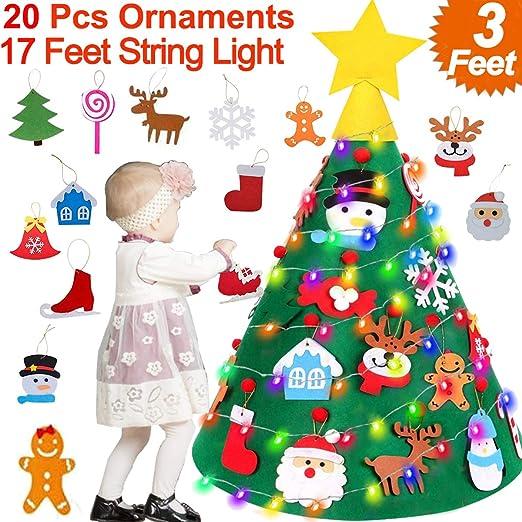 3 x Christmas Tartan Wooden Xmas Tree Door Window Decorations Ornaments String