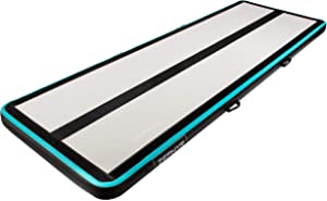 AIRTRACK Shop Zephyr Inflatable Gymnastics Mat with Air Pump | Extra Large Tumbling Mat | Compact Home Gym Exercise Equipment |Multiple Sizes & Thickness Available