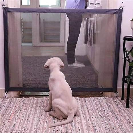 YJZQ Magic vallas para mascotas plegables para interior libre de pie puerta de seguridad portátil separacion ...