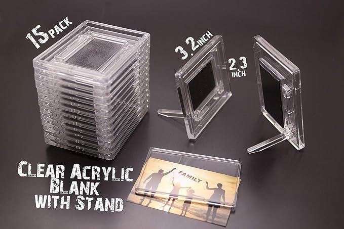 NSD5 imanes de acrílico con soporte en blanco transparente para ...