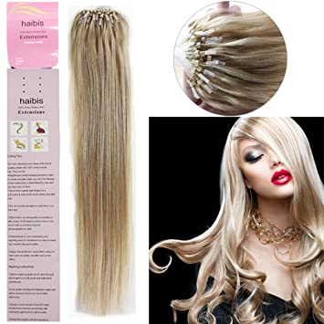 Amazon haibis 16 26straight micro loop remy human hair haibis 16 26straight micro loop remy human hair extensions with pmusecretfo Images