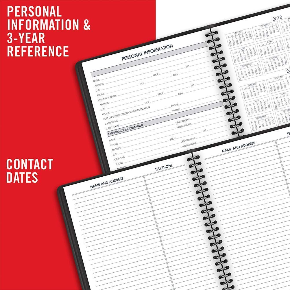 AT-A-GLANCE 2019 Weekly Appointment Books/Planners, 7'' x 8-3/4'', Medium, Black, 12 Pack (70951Z05) by AT-A-GLANCE (Image #5)