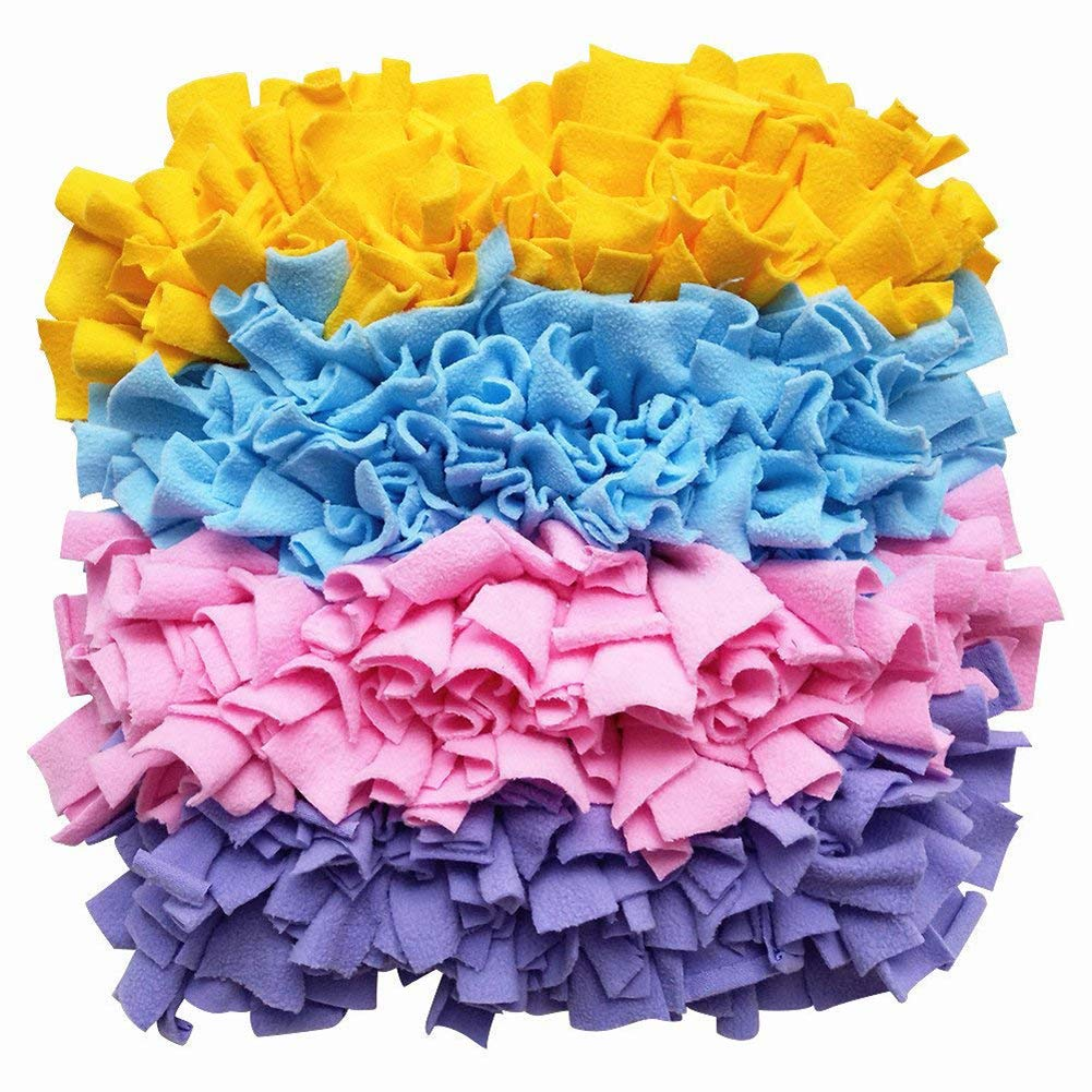 B Dog Snuffle Mat,Nosework Blanket,for Large Small Dogs,colorful,Slow Feeding Pad,Relieve Stress,45  45Cm,B