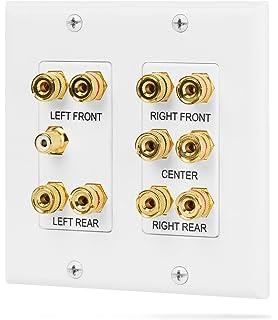 Weiß 2 Buchsen Lautsprecherdose Wandsteckdose Lautsprecher Anschluss