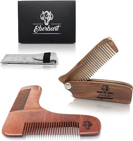 Eberbart Peine para barba plegable + Estuche de fieltro + ...