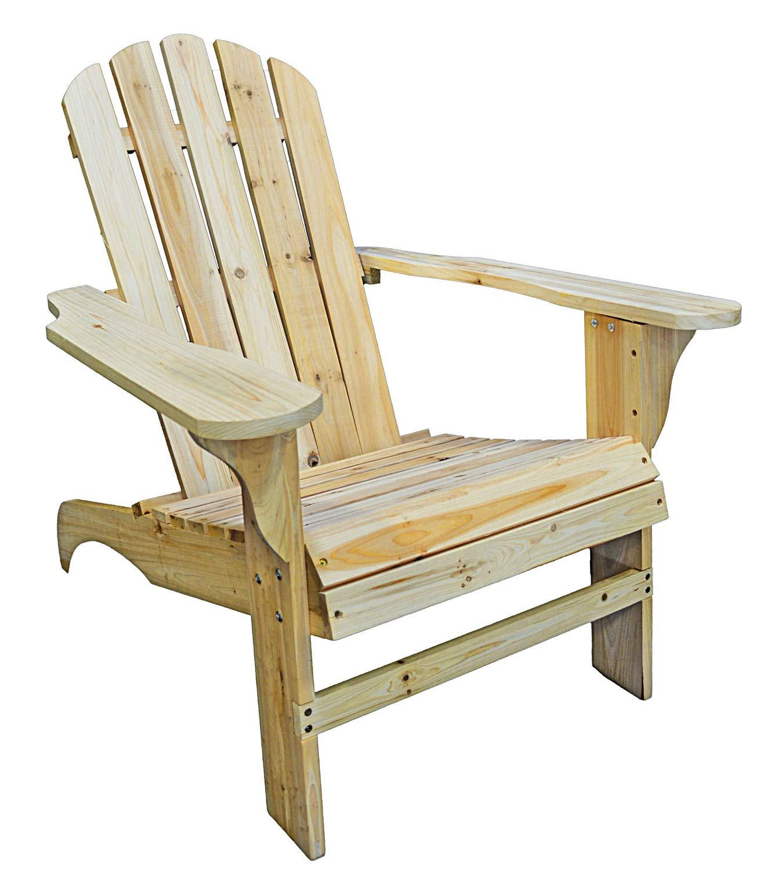 PierSurplus Natural Wood Adirondack Chair Product SKU: PF09103