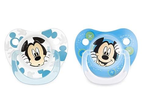 SISTEMA Paquete 2 chupetes de silicona caen Mickey 3m ...