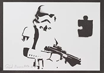 Stormtrooper Star Wars Handmade Street Art - Artwork - Poster