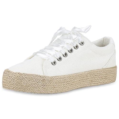 sports shoes f2074 ae7b8 SCARPE VITA Damen Plateau Sneaker Bast Glitzer
