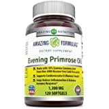 Amazing Formulas Evening Primrose Oil 1300 Mg 120 Softgels - High Potency- Made with 10% Gamma Linoleic from Non-GMO Hexane Free Cold Pressed Oil