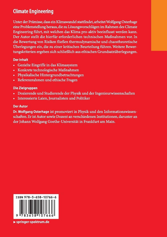 Climate Engineering: Möglichkeiten und Risiken essentials: Amazon.de ...