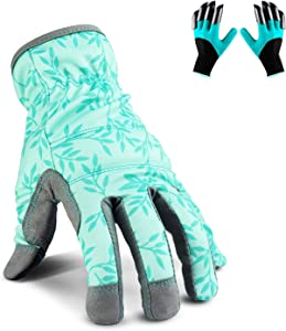 Yartting Gardening Gloves for Women, Flexible Breathable Spandex, 2 Pairs Yard & Gardening Working Gloves Touch Screen, Best Garden Gifts & Tools for Gardener, Medium