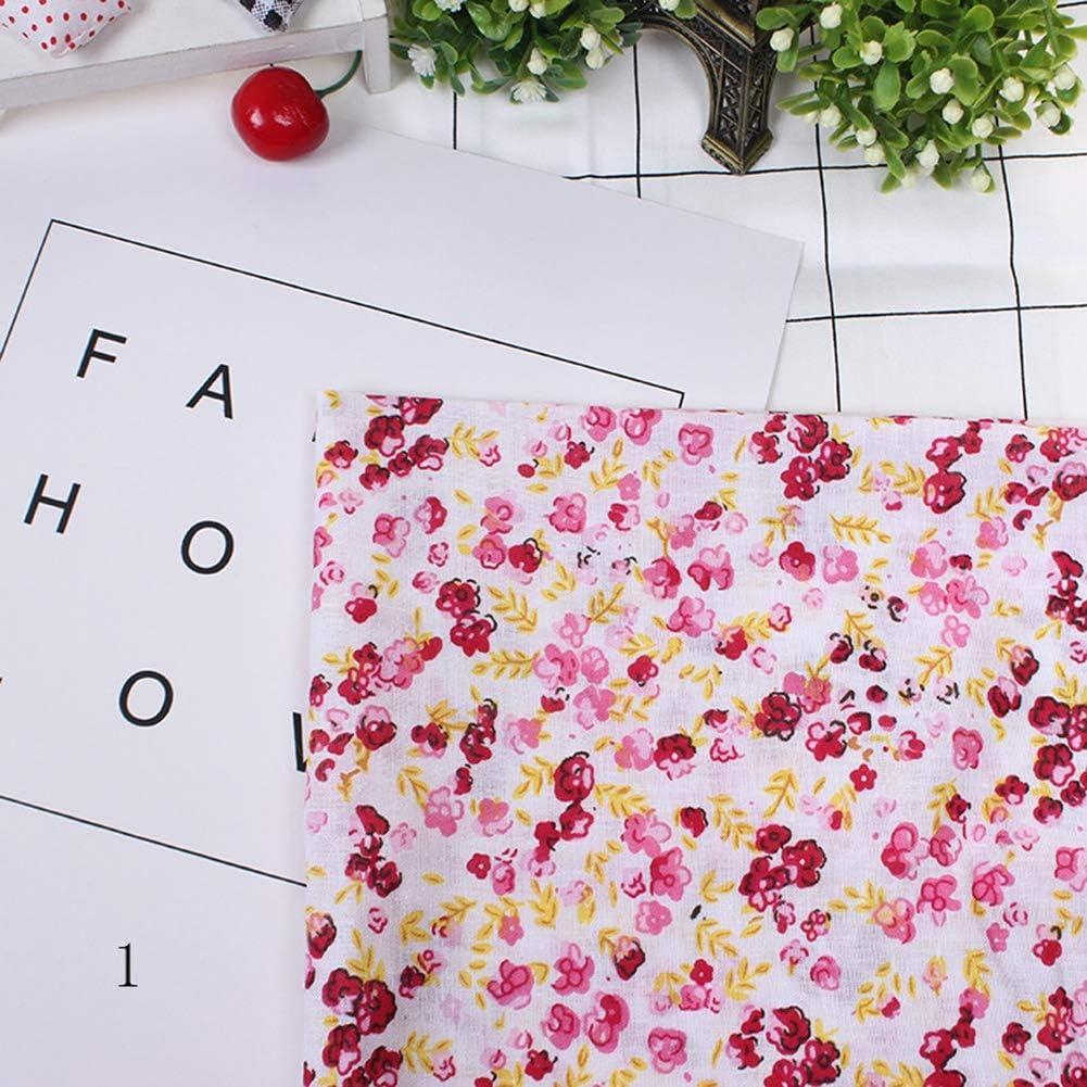 7pcs 50 Purple 50cm Cotton Fabrics DIY Floral Dots Assorted Squares Pre-Cut Quarters Bundle Cotton Quilt Fabric Sewing Quilting Patchwork