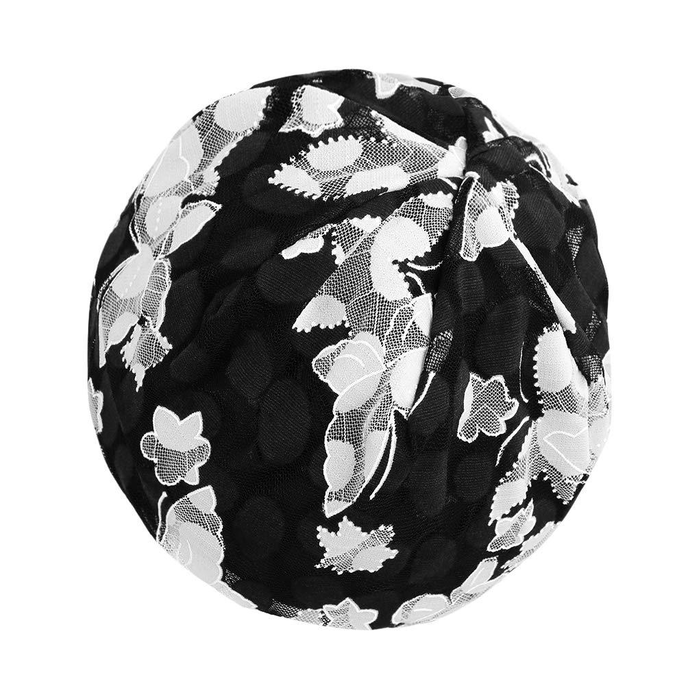 Chemo Hat for Women Beanie Hat Colorful Stripe Skull Hat Lace Super Soft Slouchy Turban Headwear Head Wraps