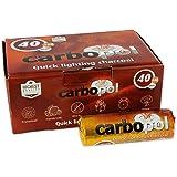 Carbopol Kohle - 40 mm - 1 Rolle a. 10 Stk. - selbstzündend