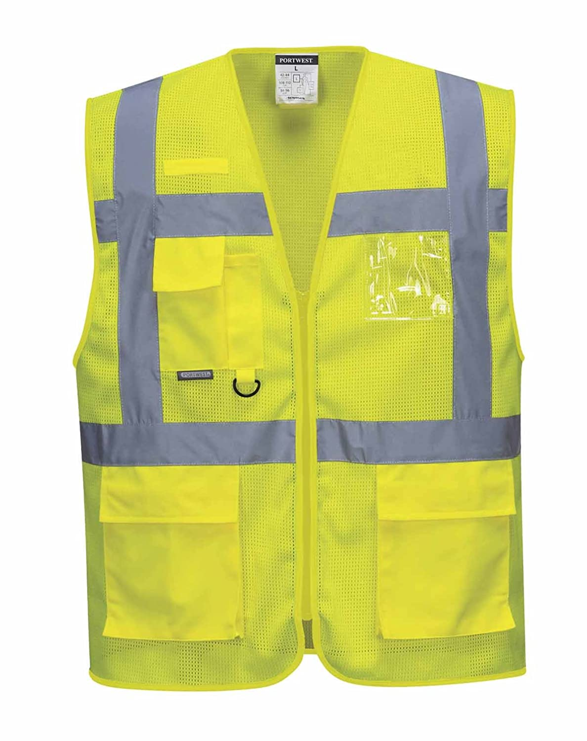 Portwest C376ORRXXL Athens Mesh Air Executive Vest 2X-Large Orange