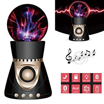 LED Touch Magic Ball Light, KINGCOO Wireless 3D estéreo Subwoofer Creatividad Lightning Ball música Altavoz