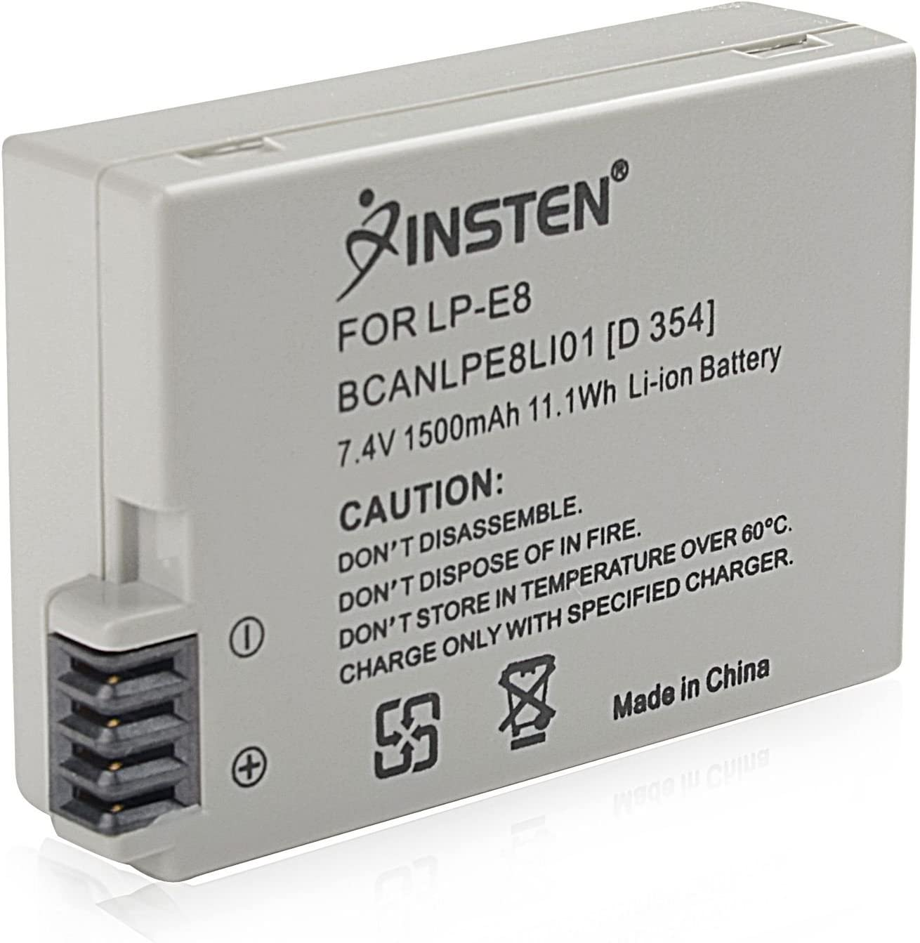 Li-ion Battery for EOS Rebel T2i Insten LP-E8 Compatible with Canon EOS 700D