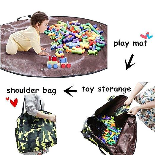 4 en 1 bolsa de almacenamiento de juguetes para niños Play ...