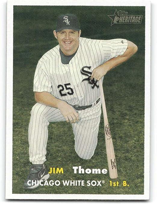 Amazon.com: 2006 Topps Heritage #129 Jim Thome NM-MT Chicago White ...