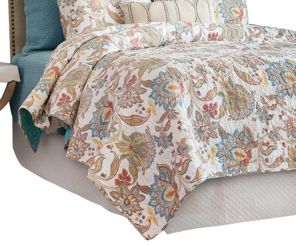 C&F Home Lucianna Full/Queen Quilt, Queen, Aegean/Rust/Gold by C&F Home