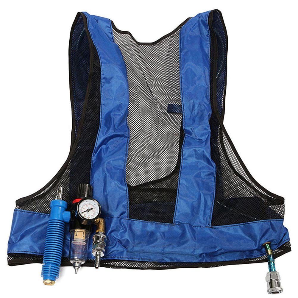 kebyy Vortex Tube Air Conditioner Waistcoat Compressed Air Cooling Welding Steel Vest