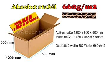 1 x La caja de cartón plegable 1200 x 600 x 600 mm Cajas de ...