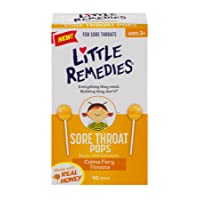 Little Remedies Sore Throat Pops | Made With Real Honey | Ages 3+ | 10 Count (Pack...